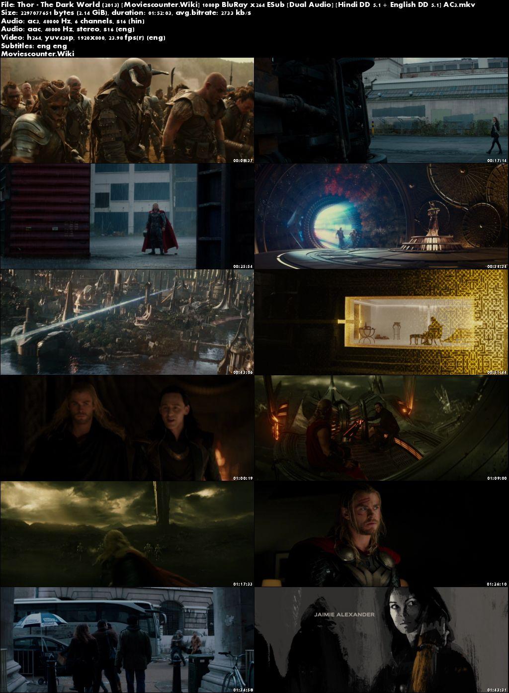 Screen Shot Thor: The Dark World 2013 Dual Audio HD 720p