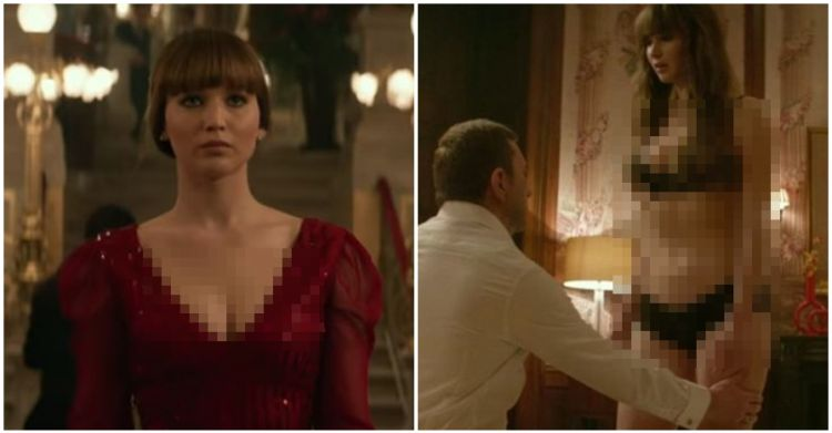 7 Potret Jennifer Lawrence tampil topless di film Red Sparrow