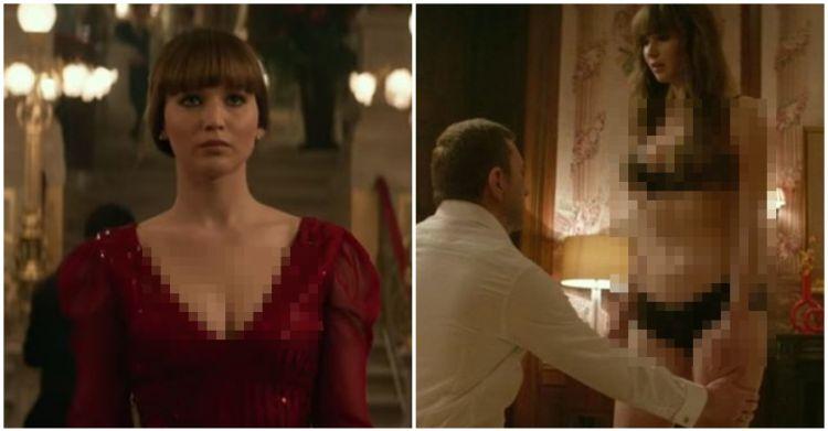 7 Potret Jennifer Lawrence tampil topless di film Red Sparrow