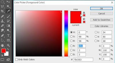 pilih warna background pas foto