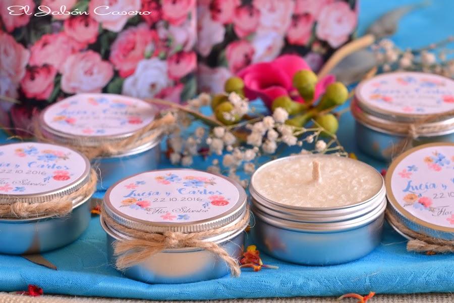 Detalles para bodas velas perfumadas personalizadas