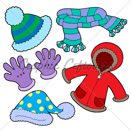 clipart winter clothing - photo #26