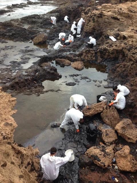 Vor Gran Canaria ist wieder Öl im Atlantik 04