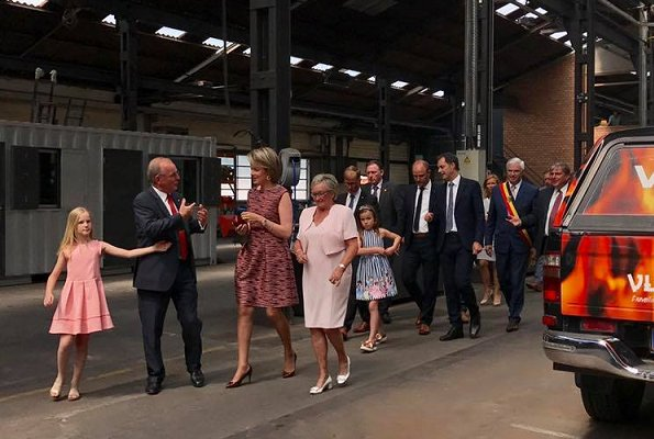Queen Mathilde attended the meeting of Belgian SDG Charter on Sustainable Development Goals at Vyncke in Harelbeke
