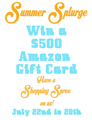 In need of a Shopping Spree? Enter to win a Five Hundred Dollar Amazon Gift Card!