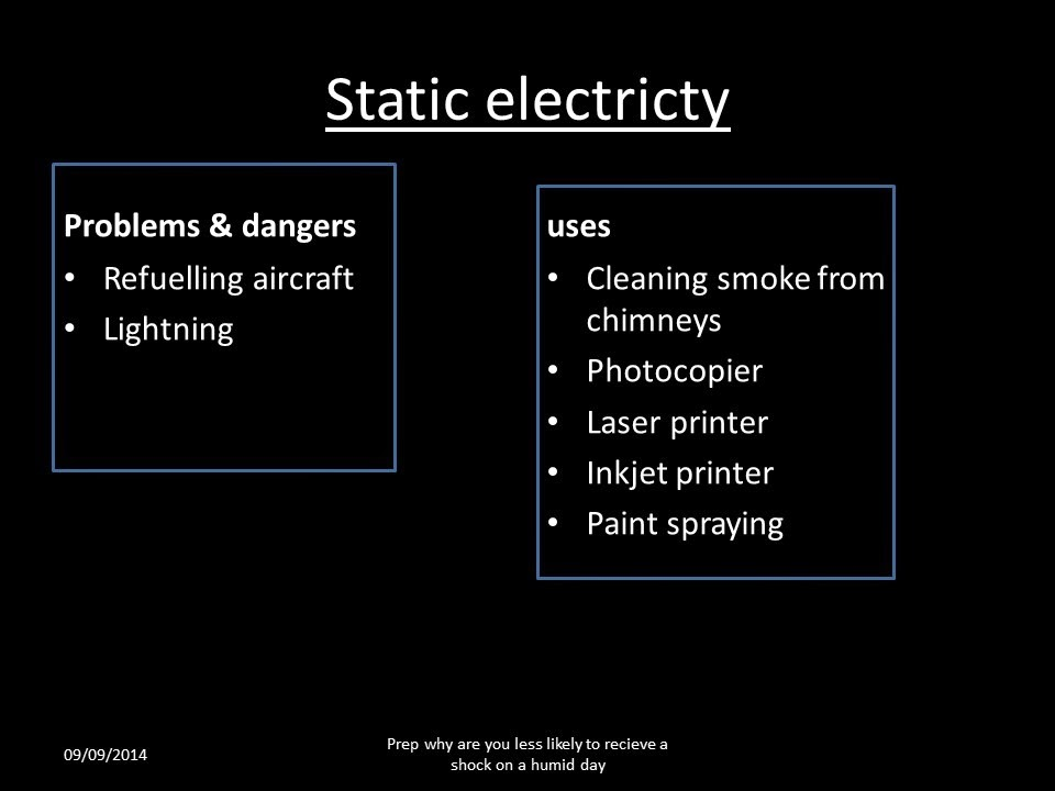 Igcse Physics Uses And Dangers Of Static Electricity