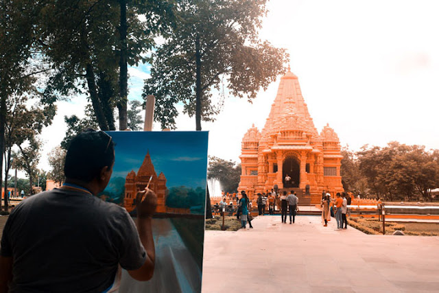 Travelling In CG Temple, Nepal