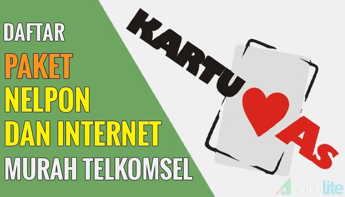 Daftar Harga Paket Nelpon dan Internet Murah Kartu AS Telkomsel Terbaru