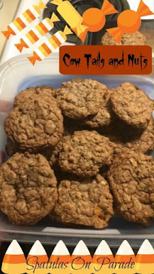 Blog With Friends, Tricks and Treats | Cow Tails and Nuts (cookies) by Dawn of Spatulas on Parade | shared on www.BakingInATornado.com | #Halloween