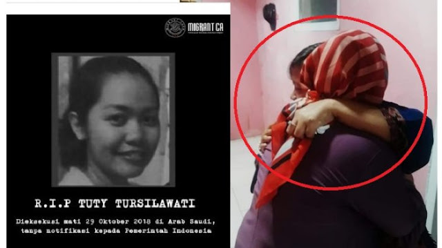 Terjerat Kasus Ini Tuti Tursilawati TKI yang Di Eksekusi Mati Oleh Arab Saudi Tanpa Meminta Izin Indonesia