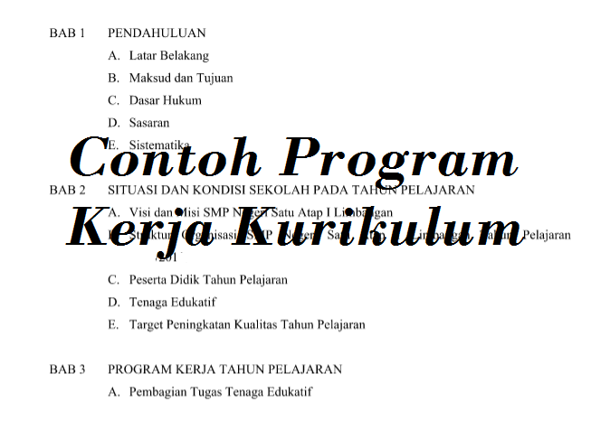 Program Kerja Kurikulum