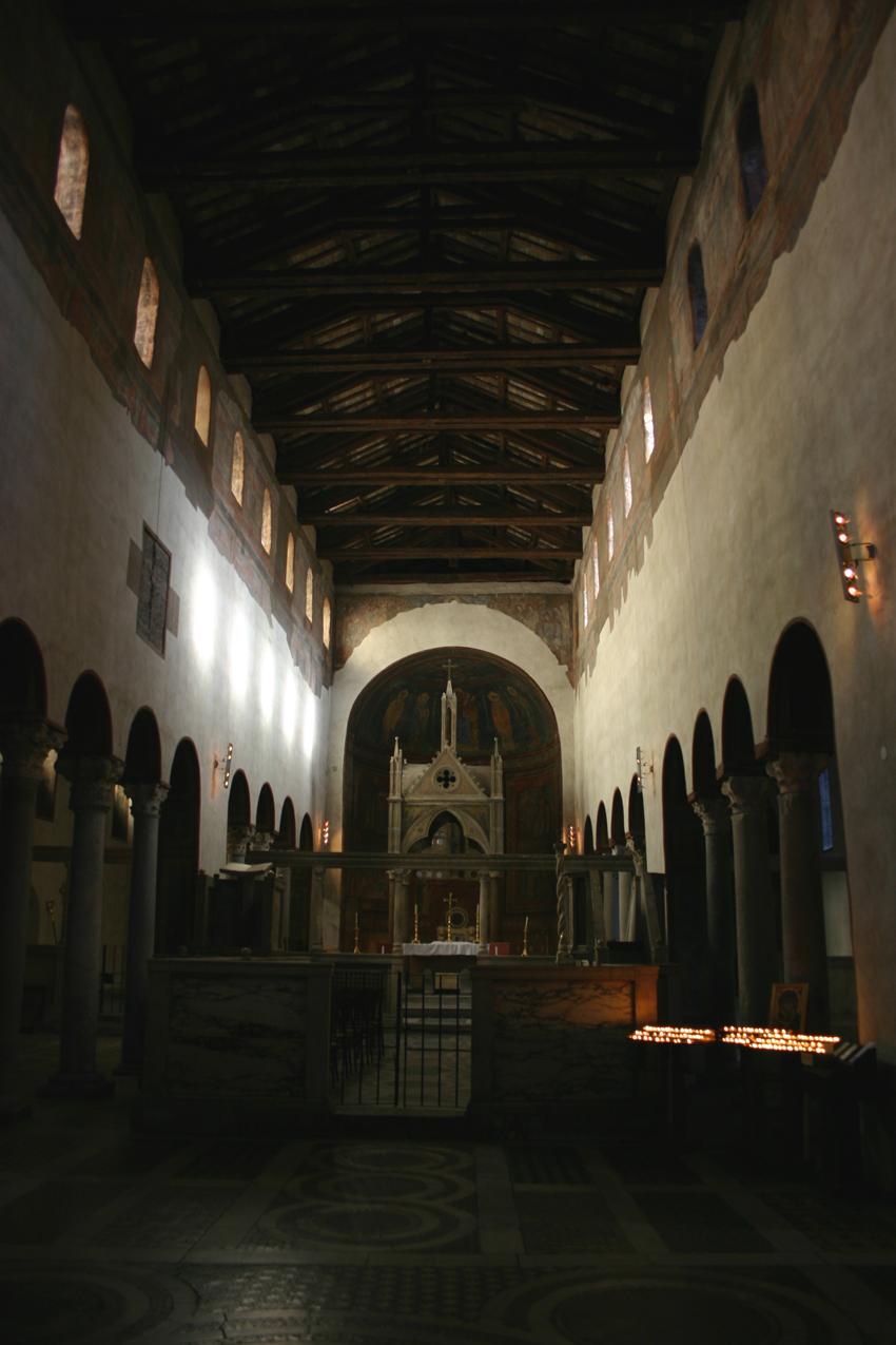 Wnetrze kościoła Santa Maria in Cosmedin