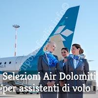 air dolomiti offerte di lavoro per hostess e steward