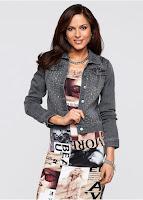 Jachetă din denim cu pietricele decorative (bonprix)