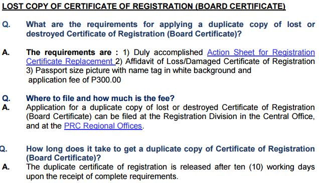 How To Authenticate Prc Certificate Of Registration Itemized Board