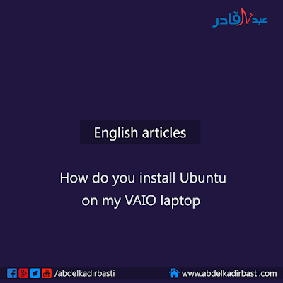 How do you install Ubuntu on my VAIO laptop