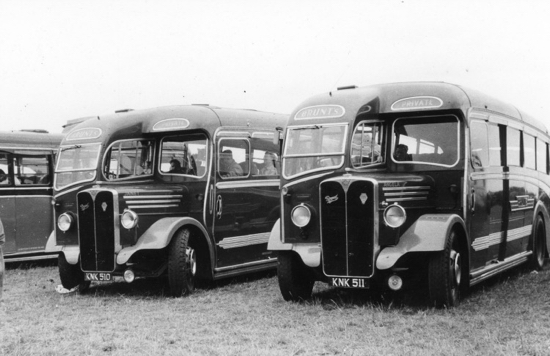 Photograph of Brunt's Coaches 27 May 1950 Image from Ron Kingdon