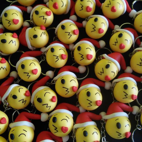 Chaveiros de Emoticons de Natal