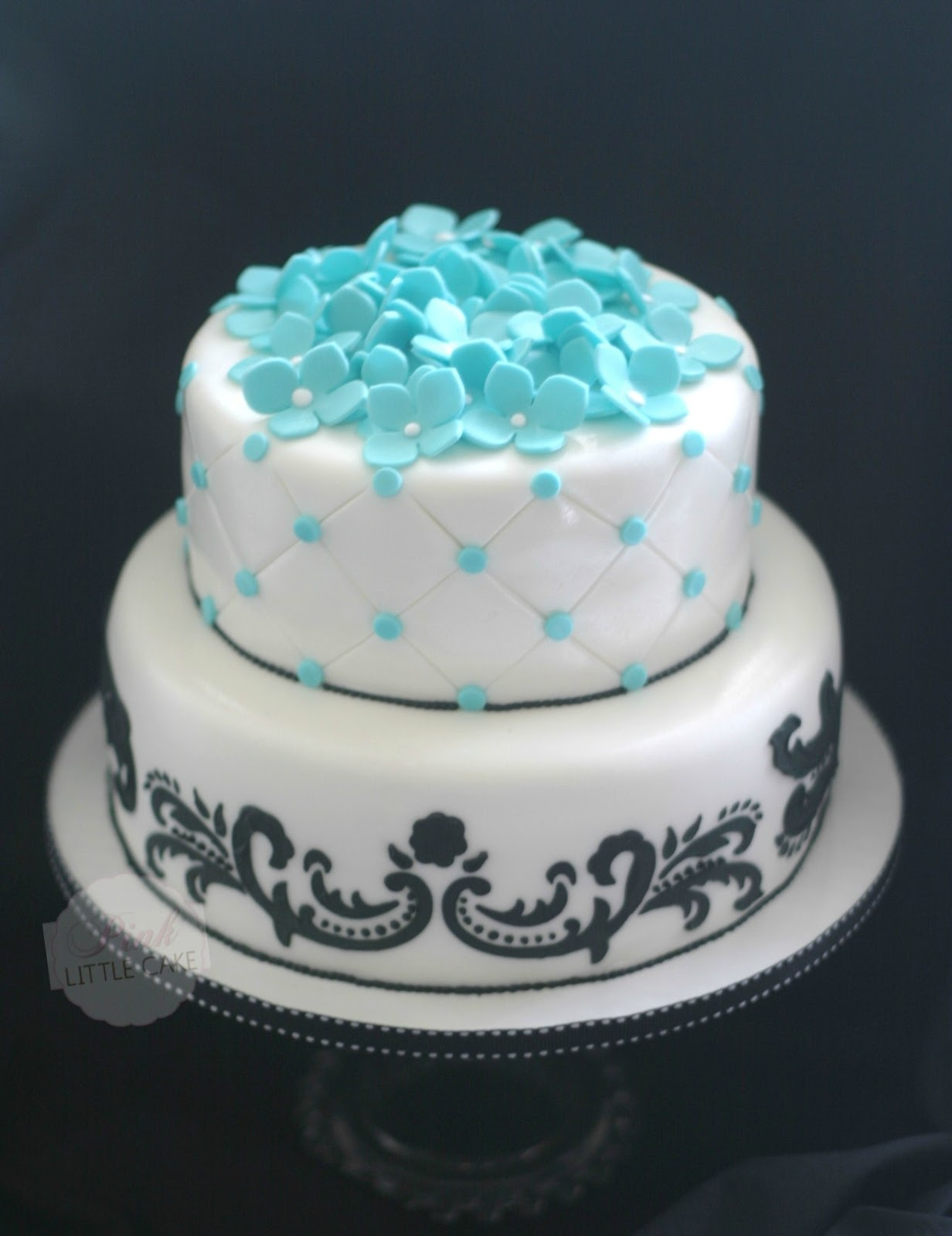 Black And Blue Sweet 16 Cake Ideas 111541 My Pink Little C