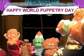 Happy World Puppetry Day The Erica Crooks Show
