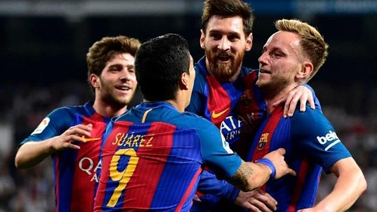 Ăn mừng chiến thắng của các cầu thủ Barcelona