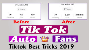 Real Likes Tik Tok Auto Fans | Auto Likes | Rv Editor - Rv Editor