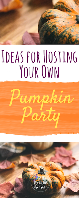 Hosting a pumpkin party is a lot of fun and gives you a great excuse to eat all of the #pumpkin desserts, hang out with friends, and celebrate Fall. Today on The Peculiar Treasure, I'm sharing some links/resources that will help you get inspired to throw your own pumpkin party.