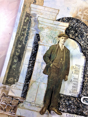 Sara Emily Barker http://sarascloset1.blogspot.com/ Before I Had My Coffee #timholtz #stampersanonymous #sizzixalterations #distressoxides Faux Marble Faux Granite 4
