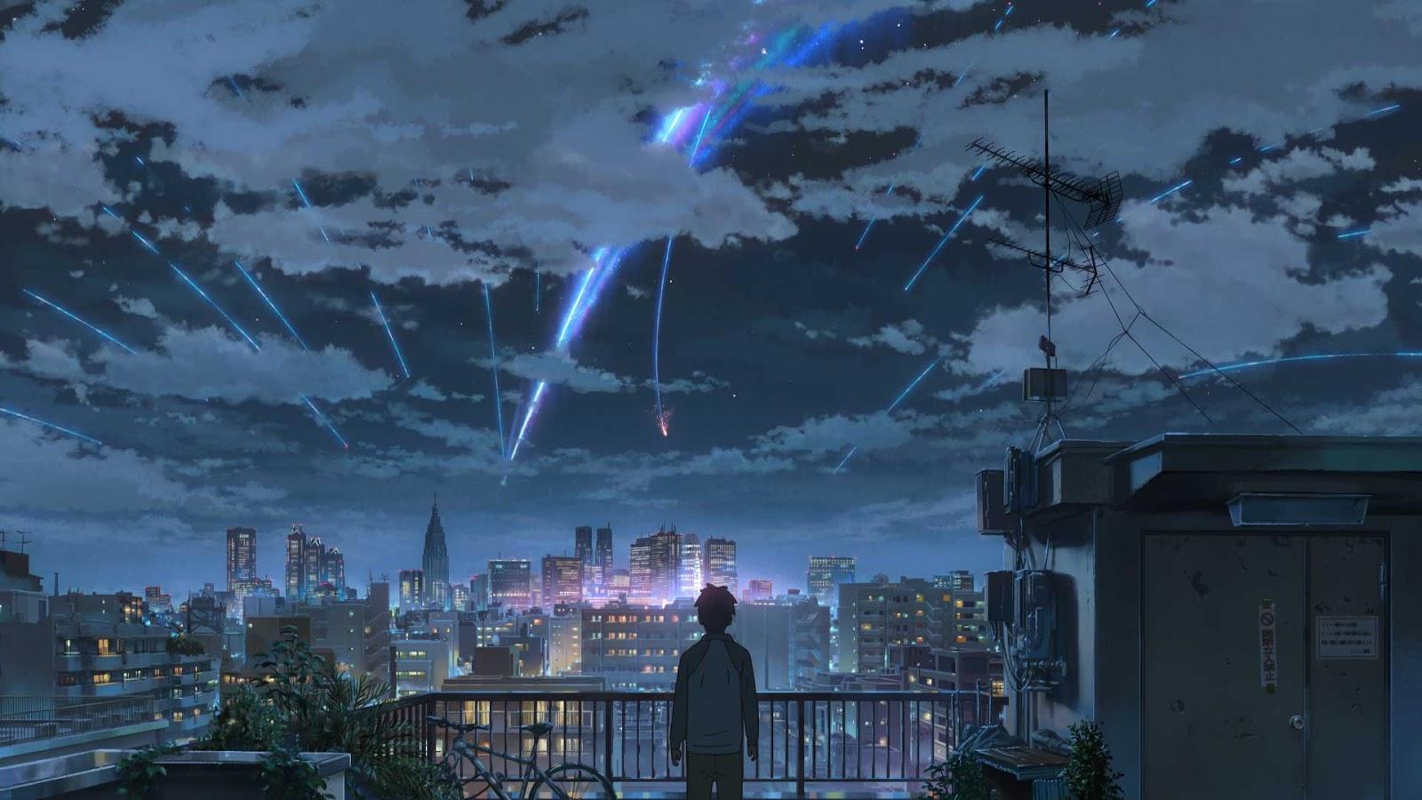 Taki stand under meteor shower