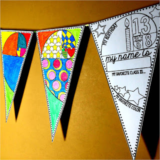 Golden Spiral Back to School Pennant