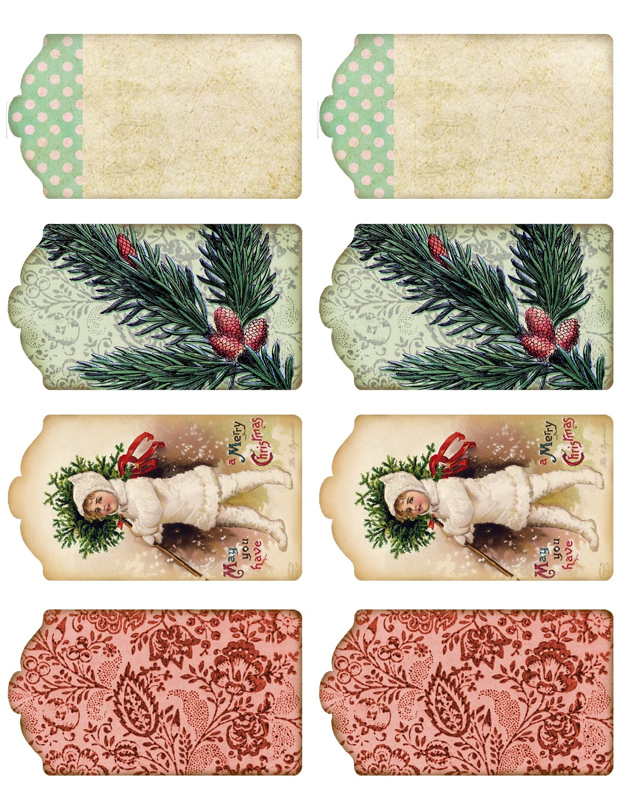 This is a picture of Ambitious Vintage Christmas Labels to Print