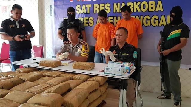 2 Oknum Polisi Pembawa 130 Kg Ganja Diupah Rp 200 Ribu Per Kg