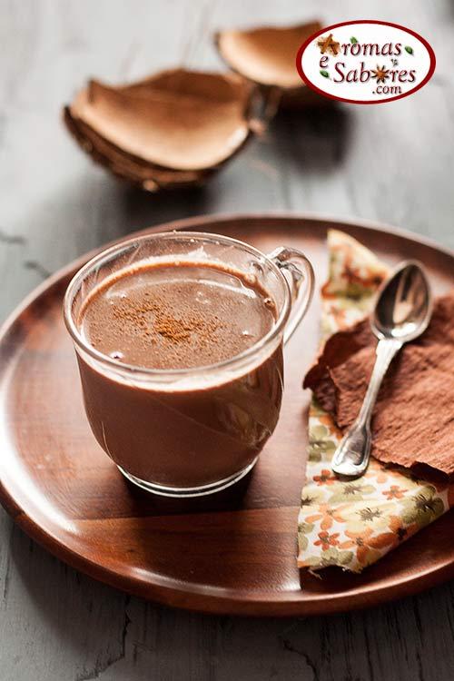 Chocolate quente vegano