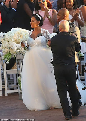 Crystal Renay in wedding dress with neyo