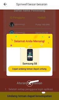 Menang Hp Samsung S8 dari Aplikasi Berita Saku