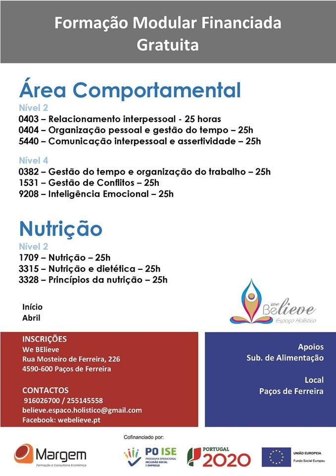 Formação modular gratuita em Paços de Ferreira