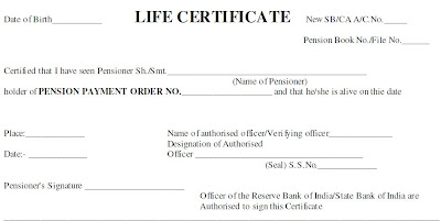 Pensioners Life Certificate