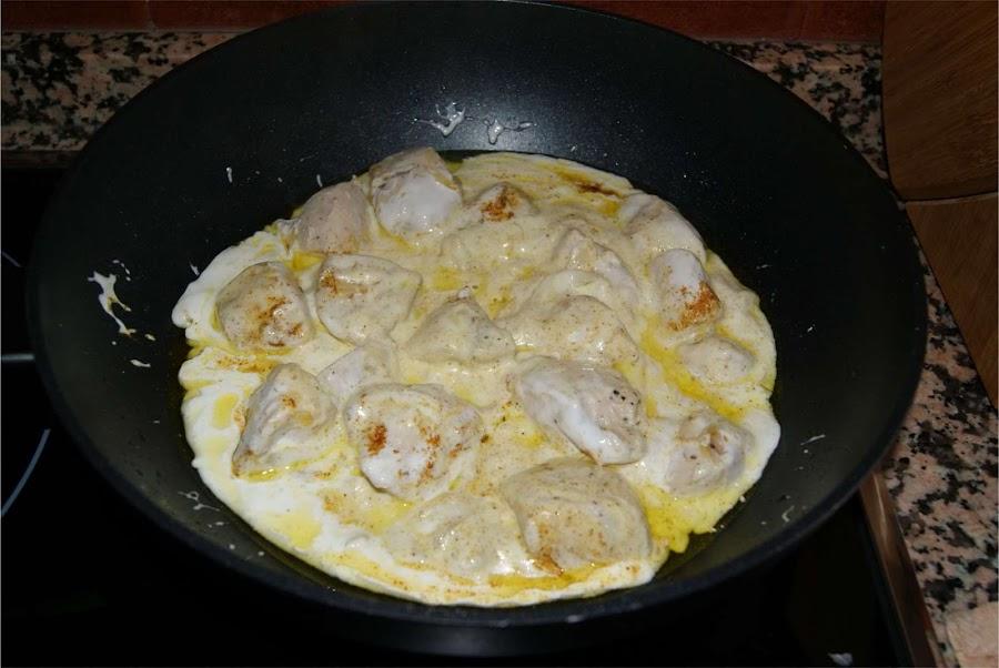 pollo al curry facil paso 3