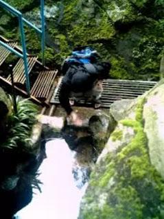 Sumber Mata Air Sungai Brantas di Arboretum Bumiaji Kota Batu