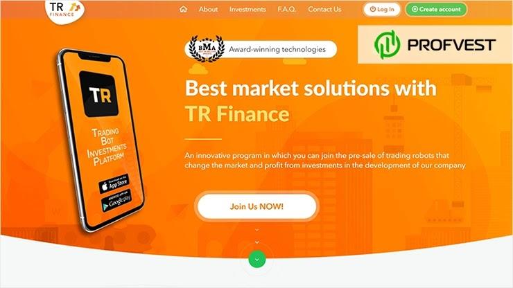 TR Finance обзор и отзывы HYIP-проекта