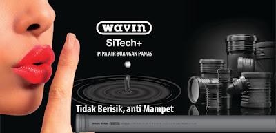 pipa untuk meredam bunyi dan anti mampet - Wavin SiTech