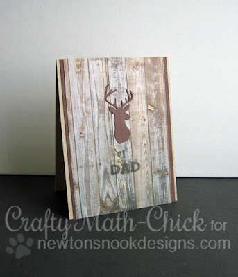 Rustic Buck Father's Day Card by Crafty Math Chick | Splendid Stags dies by Newton's Nook Designs