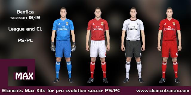 Benfica 18/19 pes kits