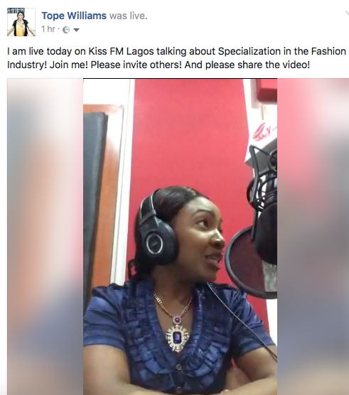 We had a great show today on 98.9 Kiss FM Lagos…