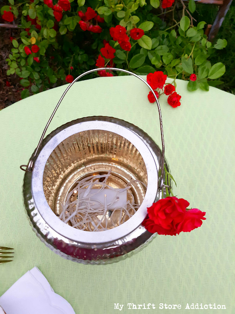thrifted summer tablescape