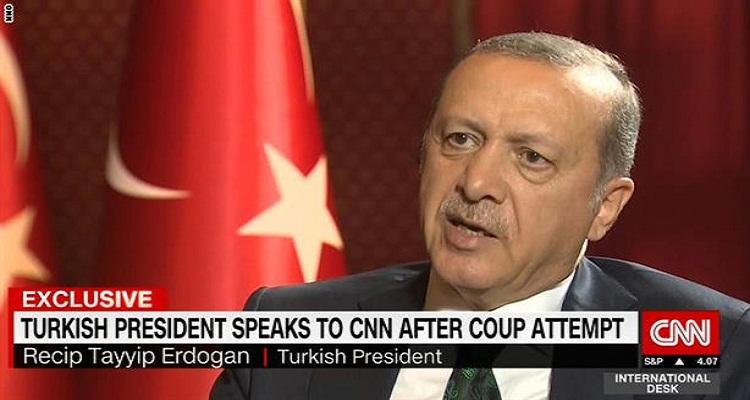 في أول ظهور له في وسيلة إعلامية.. أردوغان يفجر مفاجأة بخصوص الانقلاب الفاشل