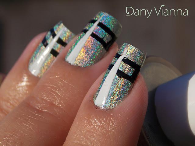 #31DC2015 - Nail art Geométrica com holo