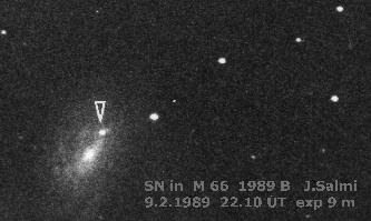 Supernova 1989B in M66 by J. Salmi of Finland