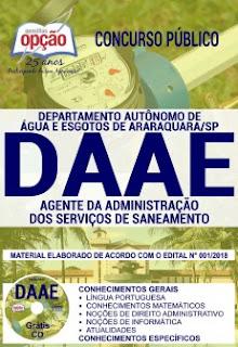 Apostila Daae raraquara 2018 Agente da Administração