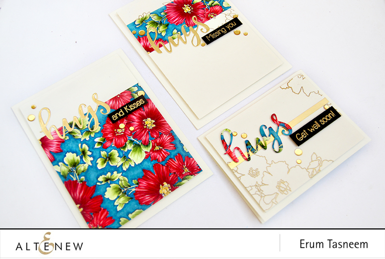 Altenew Charmed Stamp Set | Script Words Die Set | Artist Markers | Erum Tasneem | @pr0digy0 | @altenew